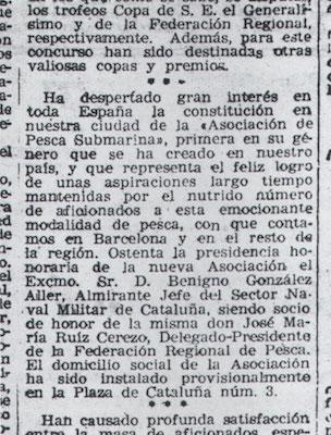 Fragmento de la página 3 de El Mundo Deportivo del 5 de junio de 1946.